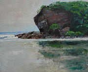 Nicaragua Paintings - The Coco Beach by Marino Chanlatte