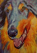 Acrylic Dog Paintings - The Collie by Pam Bledsoe