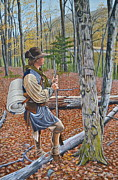 Revolutionary War Painting Originals - The Colonial Scout by Dave Hasler