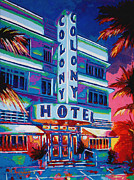 South Beach Paintings - The Colony by Maria Arango