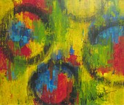 Abstract Impressionism Paintings - The Color Of Circles by Molly Roberts