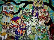 Amy Sorrell Art - The Color of Owls by Amy Sorrell