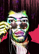American Singer Paintings - The Color of Rock - Jimi Hendrix Series by Reggie Duffie