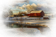Barn Yard Metal Prints - The Color Of Winter Metal Print by Kathy Jennings