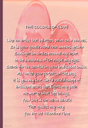 The Posters Mixed Media Prints - The Colors Of Love Card Print by Debra     Vatalaro