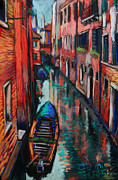 Facades Painting Posters - The Colors Of Venice Poster by EMONA Art