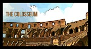 Colliseum Framed Prints - The Colosseum Poster Framed Print by John Malone