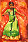Ontario Portrait Artist Paintings - The Colours of Dance by Sheila Diemert
