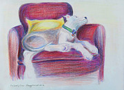 Chair Drawings Originals - The Comfy Chair by Ginny Schmidt