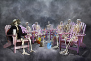 Smart Digital Art - The Committee Reaches Enlightenment by East Coast Barrier Islands Betsy A Cutler