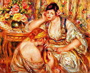 Vase Of Flowers Digital Art Prints - The Concert Print by Pierre Auguste Renoir