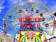 The Coney Island Wonder Wheel Print by Ed Weidman