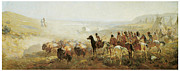 Teepee Prints - The Conquest of the Prairie Print by Irving R Bacon