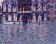Venetian Architecture Paintings - The Contarini Palace by Claude Monet