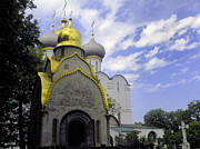 Russian Cross Photos - The Convent in Moscow - Russia by Madeline Ellis