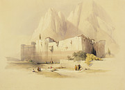 Sinai Monastery Posters - The Convent of St. Catherine Poster by David Roberts