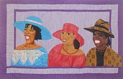 Hats Tapestries - Textiles Framed Prints - The Conversation Framed Print by Aisha Lumumba