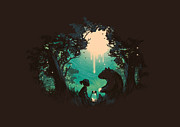 Night Forest Framed Prints - The Conversationalist Framed Print by Budi Satria Kwan