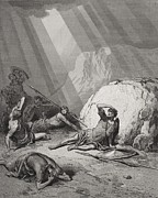 Religious Drawings Prints - The Conversion of St. Paul Print by Gustave Dore