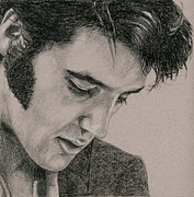 Elvis Presley Drawings - The Cool King by Rob De Vries