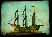 Sails Prints - The Copper Ship Print by Colleen Kammerer