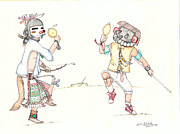 Hopi Mixed Media Prints - The Copycat Print by Dalton James