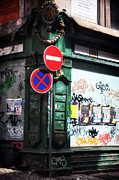 Graffiti Prints Prints - The Corner Print by John Rizzuto