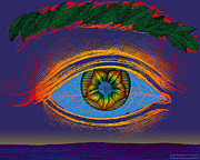 Archetypal Prints - The Cosmic Eye Print by Eric Edelman