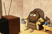 Sat Digital Art - The Couch Potato by Liam Liberty