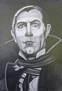 Dracula Drawings - The Count by Anne Shoemaker-Magdaleno