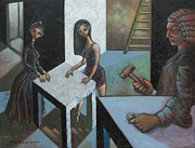 Liberal Paintings - The Court of O by Paul Hilario