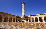 Great Mosque Prints - The courtyard of the Great Mosque in Aleppo Syria Print by Robert Preston