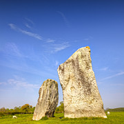 Standing Stones Prints - The Cove Avebury Wiltshire Print by Colin and Linda McKie