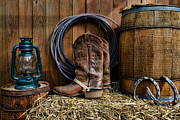Horse Shoe Framed Prints - The Cowboy Framed Print by Paul Ward