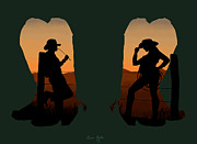 People Digital Art - The Cowboy Way 2.. Nice Boots by Brien Miller