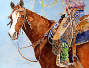Cowgirls Paintings - The Cowgirl by Suzy Pal Powell
