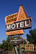Disney California Adventure Park Posters - The Cozy Cone Motel Marquee Poster by Michael Simoneit