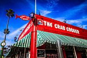 Exterior Framed Prints - The Crab Cooker Newport Beach Photo Framed Print by Paul Velgos