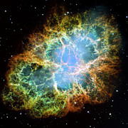 Galactic Digital Art - The Crab Nebula by Nicholas Burningham