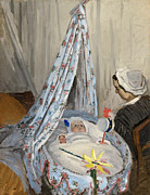 Toys Prints - The Cradle Print by Claude Monet