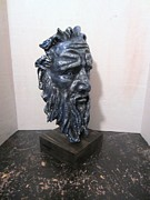 Male Portrait Sculpture Sculptures - The Craftsman by Jordan  Hall