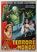 Italian Cinema Posters - The Creature Walks Among Us - Italian Poster by Nomad Art And  Design
