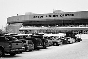 Sask Prints - the credit union center Saskatoon Saskatchewan Canada Print by Joe Fox