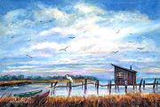 Fishing Shack Paintings - The Creek by Bette Orr