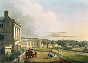 The Crescent, From Bath Illustrated Print by John Claude Nattes