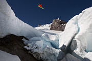 Mitch Prints - The crevasse Print by Kevin Westenbarger