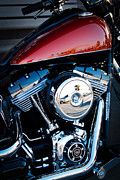 Classic Cycle Prints - The Crimson Hog II Print by David Patterson