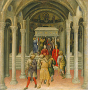 Miracle Art - The Crippled and Sick Cured at the Tomb of Saint Nicholas by Gentile da Fabriano