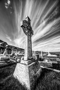 Grave Yard Framed Prints - The Cross Framed Print by Adrian Evans