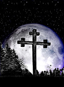 Ghastly Photo Posters - The Cross Poster by Nina Ficur Feenan